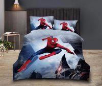 """Постельное белье детское  1,5 сатин """"Человек паук"""" НP023"""