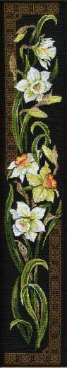 Набор для вышивания крестом Нарциссы №842 фирма Риолис