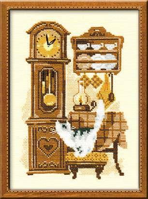 Набор для вышивания крестом Часы №858 фирма Риолис