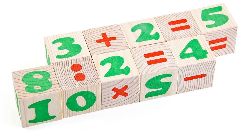 """Кубики """"Цифры"""" 12 элементов: 4 × 4 см"""
