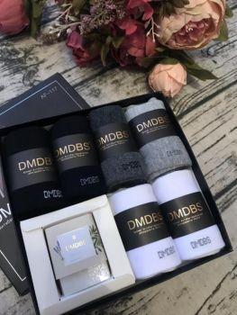 Люкс носки мужские в коробке + МЫЛО в подарок №AF209