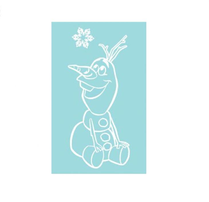 Полотенце Disney  50х80 Olaf Аква/белый 745037