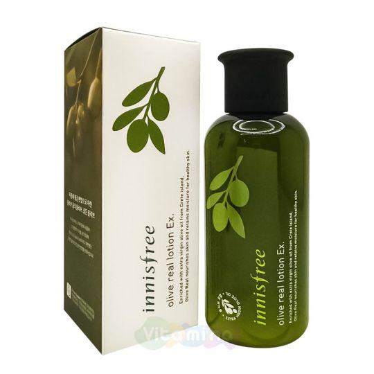 Innisfree Увлажняющий лосьон c органическим оливковым маслом Olive Real Lotion Ex, 160 мл