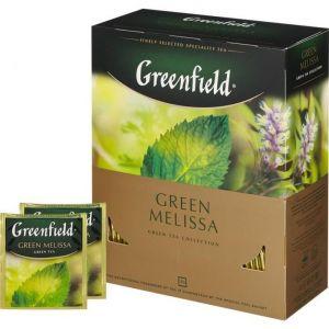 Чай Greenfield Green Melissa с мелиссой 100 пак.