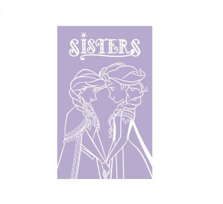 Полотенце Disney 70х120 Frozen Sisters сиреневый/белый 745298