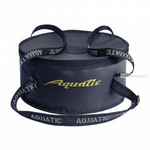 Ведро Aquatic  В-03С  для замешивания корма с крышкой 420 мм (цвет: синий)