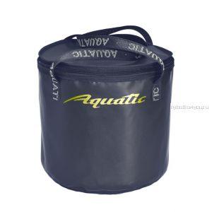 Ведро Aquatic  В-04С для замешивания корма с крышкой 330 мм (цвет: синий)