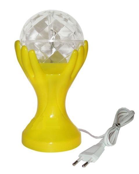 Декоративный LED-светильник Шар В Руках 18 см, Желтый