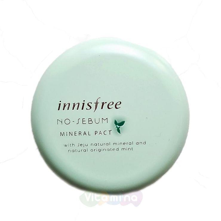Innisfree Бесцветная компактная пудра для жирной кожи No Sebum Mineral Pact, 8.5 г