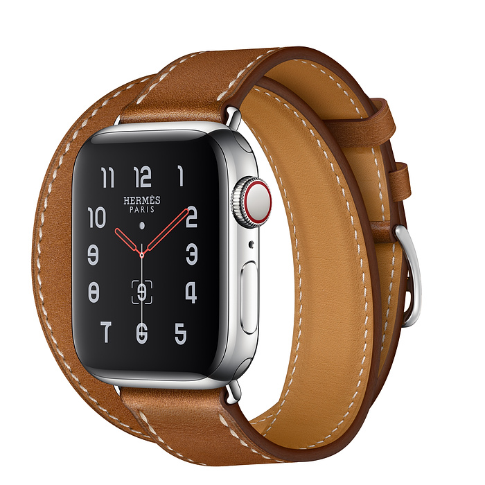 Apple Watch Hermes Series 5 40mm Stainless Steel GPS + Cellular Fauve with Leather Double Tour