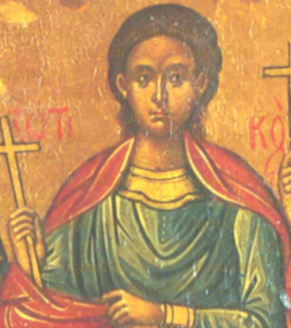 Икона Зотик Фракийский мученик