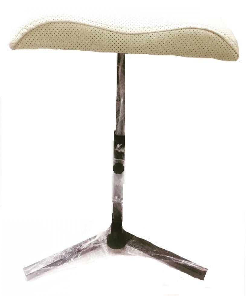 Подставка педикюрная для ног (тренога), белая