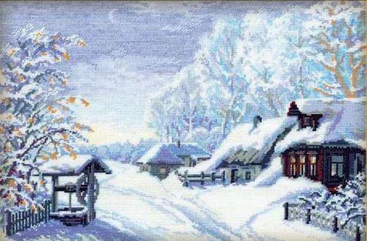 Набор для вышивания крестом Русская зима №989 фирма Риолис