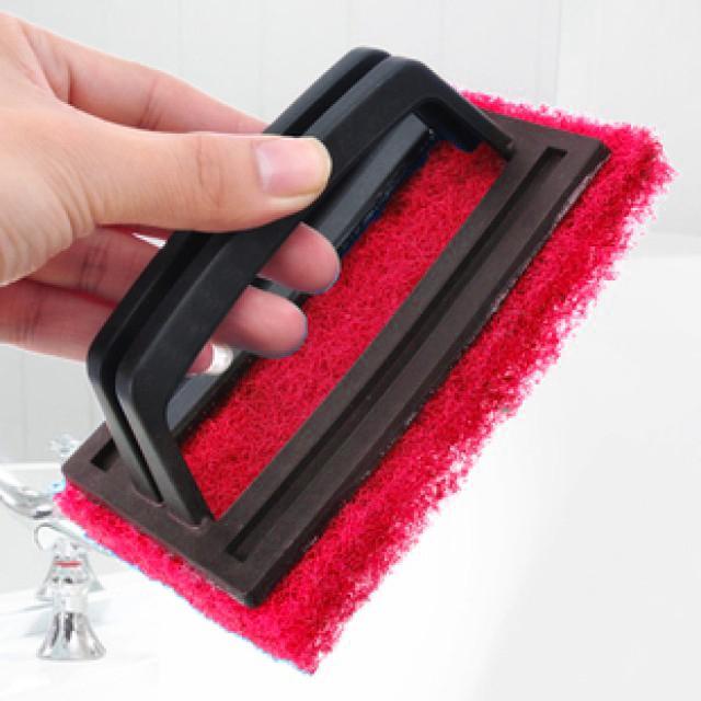 Чистящая губка с держателем Tomorrow, цвет красный