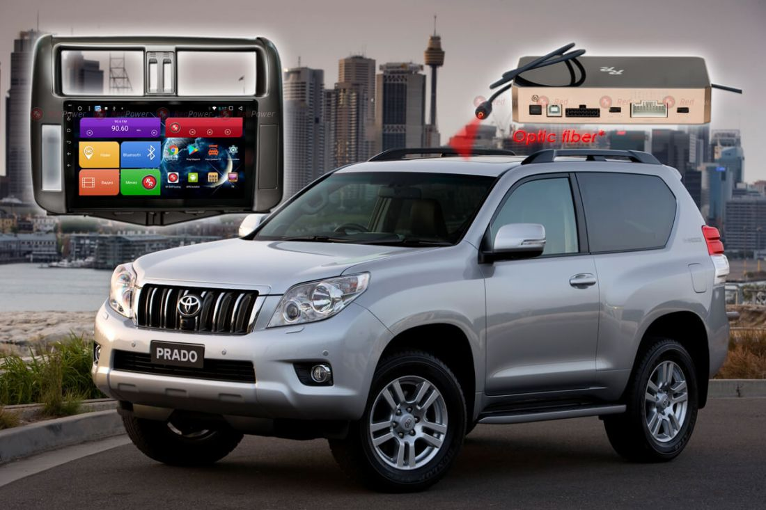 RedPower 51065 R IPS DSP ANDROID 8+ Автомагнитола для Toyota Prado 150 (2010-2013г);
