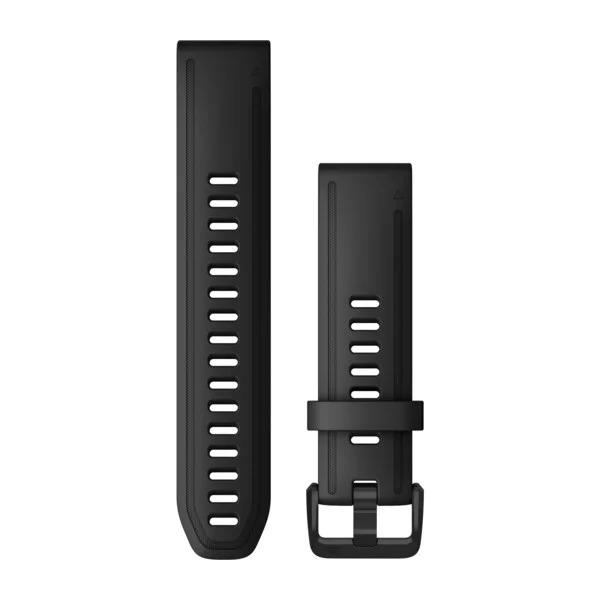 Ремешок сменный QuickFit 20мм силиконовый черный