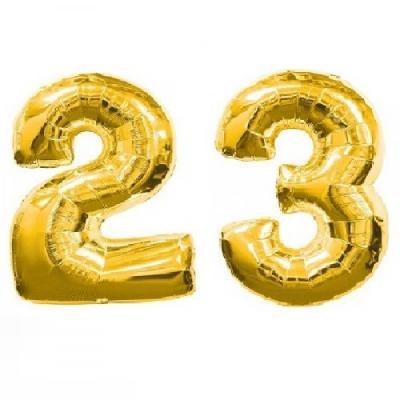 Цифры 23 с воздухом (не летают)