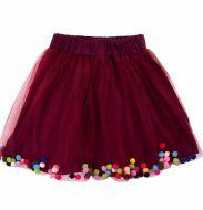Фатиновая юбка для девочек 2-6 лет BNT439 бордо