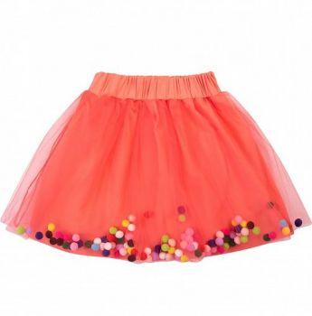 Фатиновая юбка для девочек 2-6 лет BNT439 корал