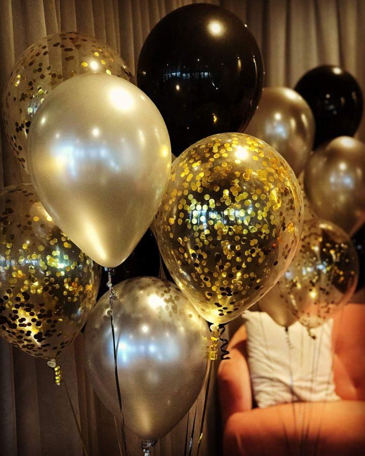 Набор воздушных шаров с гелием 25 шт Мистика
