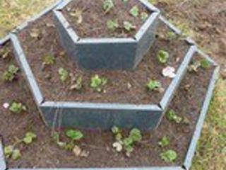Клумба многоугольная цинк 2х ярусная Д-180 Д-140