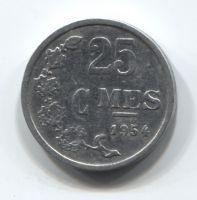 25 сантимов 1954 года Люксембург