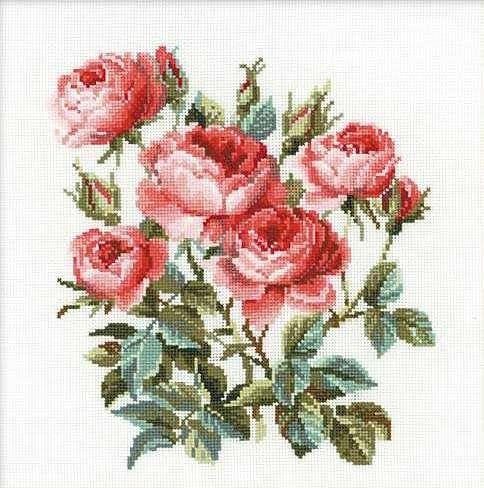 Набор для вышивания крестом Садовые розы №1046 фирма Риолис