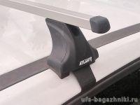 Багажник на крышу Renault Arkana, Атлант, прямоугольные дуги, опора Е