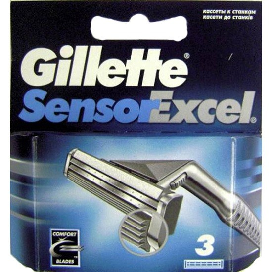 Лезвия Gillette Sensor Excel  (3шт)
