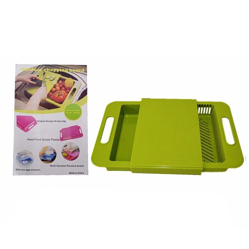 Многофункциональная разделочная доска Outdoor chopping board (цвет зеленый)