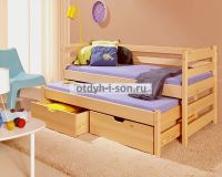 Кровать двухъярусная выкатная Эмили №W, любые размеры