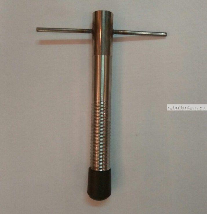 Ввертыш для зимних палаток с колпачком сдвижная ручка, нерж. сталь, 17см