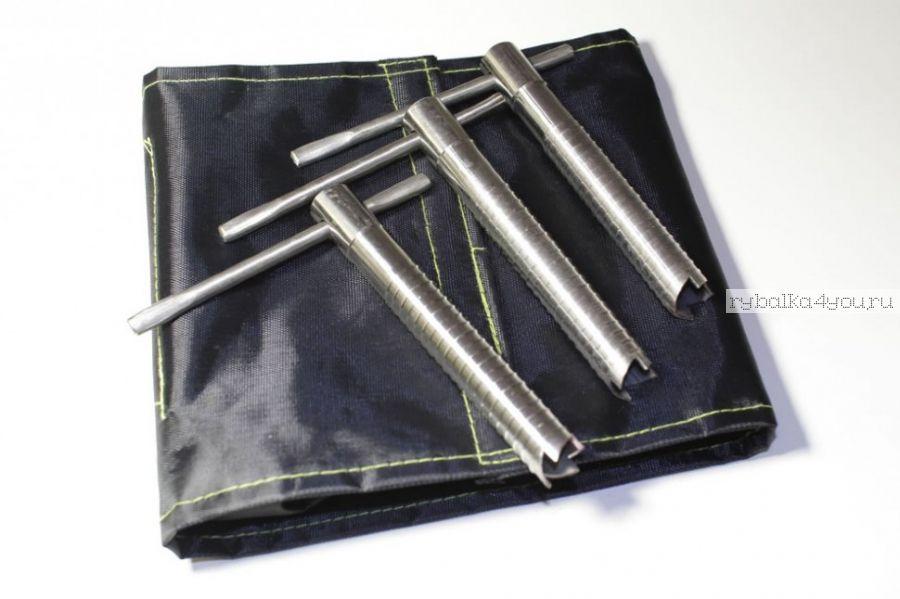 Ввертыши для зимних палаток в чехле, подвижная ручка, нерж. сталь, комплект 6шт