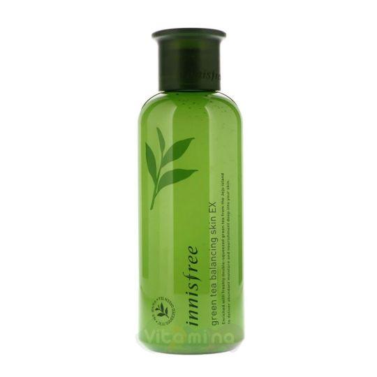 Innisfree Тоник для лица на основе экстракта зеленого чая Green Tea Balancing Skin EX, 200 мл