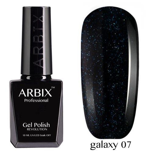 Гель-лак Arbix Galaxy 10 мл сияние звезд 07
