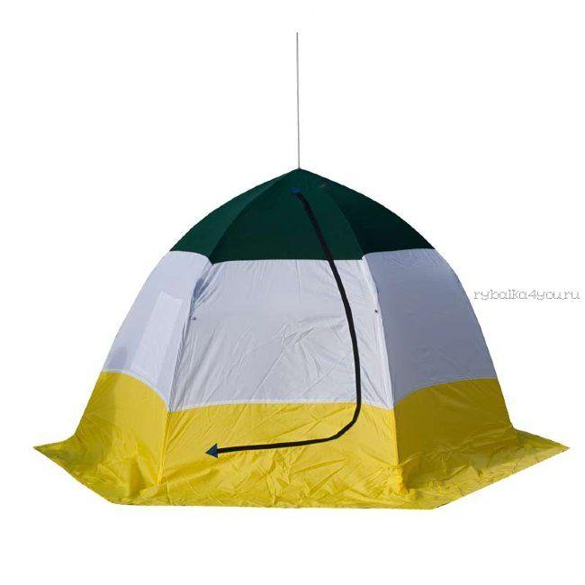 Палатка-зонт без дна СТЭК Elite 4-х местная / двухслойная / дышащая