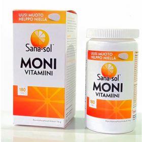 Mультивитамины Moni-vitamiini 180 таблеток Sana-Sol