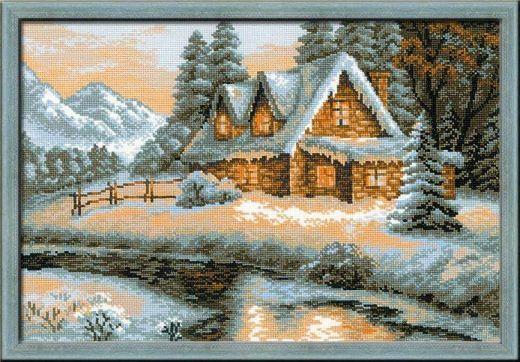 Набор для вышивания крестом Зимний пейзаж №1080 фирма Риолис