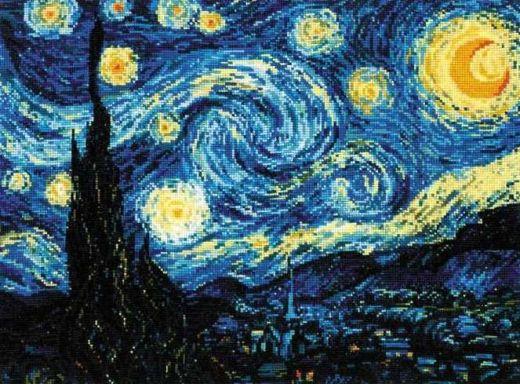Набор для вышивания крестом Звездная ночь №1088 фирма Риолис