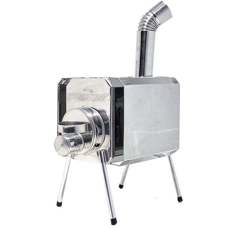 Печка-Пошехонка Турист 30 л с встроенным искрогасителем и экраном