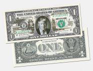 1 доллар США - Дональд Трамп (с надпечаткой)