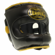 Шлем боксерский LEADERS LS BK/GD с бамперной защитой