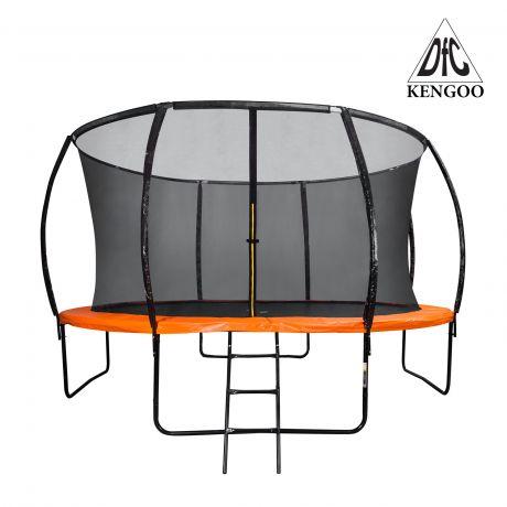 Батут DFC KENGOO Trampoline 14 футов,  с внутренней защитной сеткой.