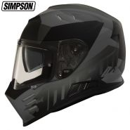 Шлем Simpson Venom Army,  Чёрно-серый матовый