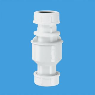 Обратный клапан (подпружиненная мембрана) вертикальный вх/вых Ду=19-23мм (компрессионное соединение); цвет-белый