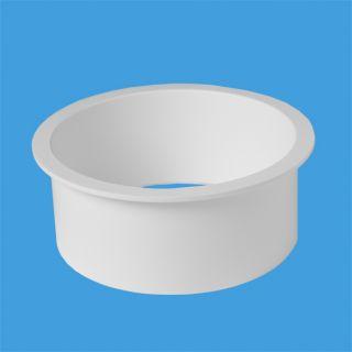 Муфта пластикова для перехода с прокладки фановой трубы на Дн=110мм