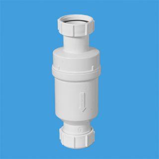 """Самозакрывающийся сливной клапан (""""сухой"""" сифон); вход 1 1/4""""«мама», выход компрессионный Ду=32мм"""