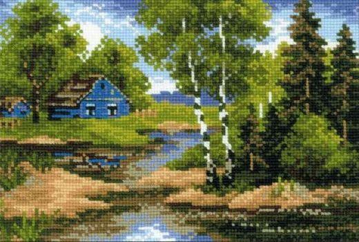Набор для вышивания крестом Летний домик №1113 фирма Риолис