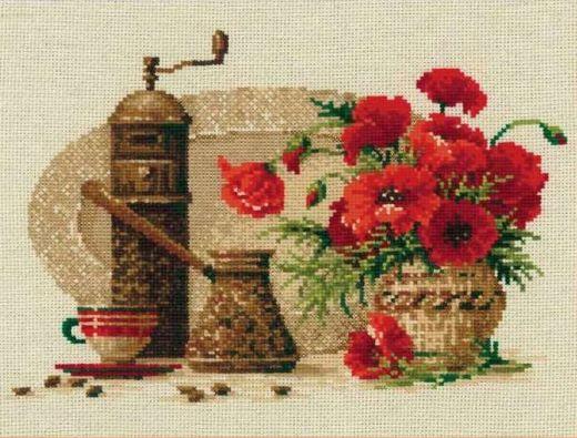 Набор для вышивания крестом Кофе №1121 фирма Риолис