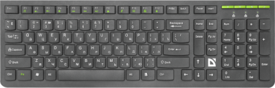 НОВИНКА. Беспроводная клавиатура UltraMate SM-536 RU,черный,мультимедиа